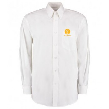 Mens Oxford Shirt - Long Sleeve (White)