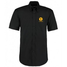 Mens Oxford Shirt - Short Sleeve (Black)