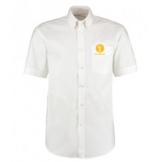 Mens Oxford Shirt - Short Sleeve (White)