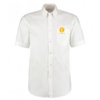 Mens Oxford Shirt - Short Sleeve (White)