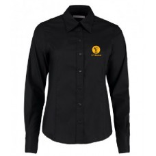 Ladies Oxford Shirt - Long Sleeve (Black)