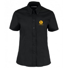 Ladies Oxford Shirt - Short Sleeve (Black)