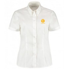 Ladies Oxford Shirt -  Short Sleeve (White)