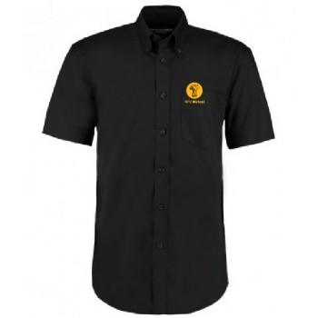 Mens Oxford Shirt - Short Sleeve (Black)