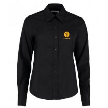 Ladies Oxford Shirt - Long Sleeve (Black)